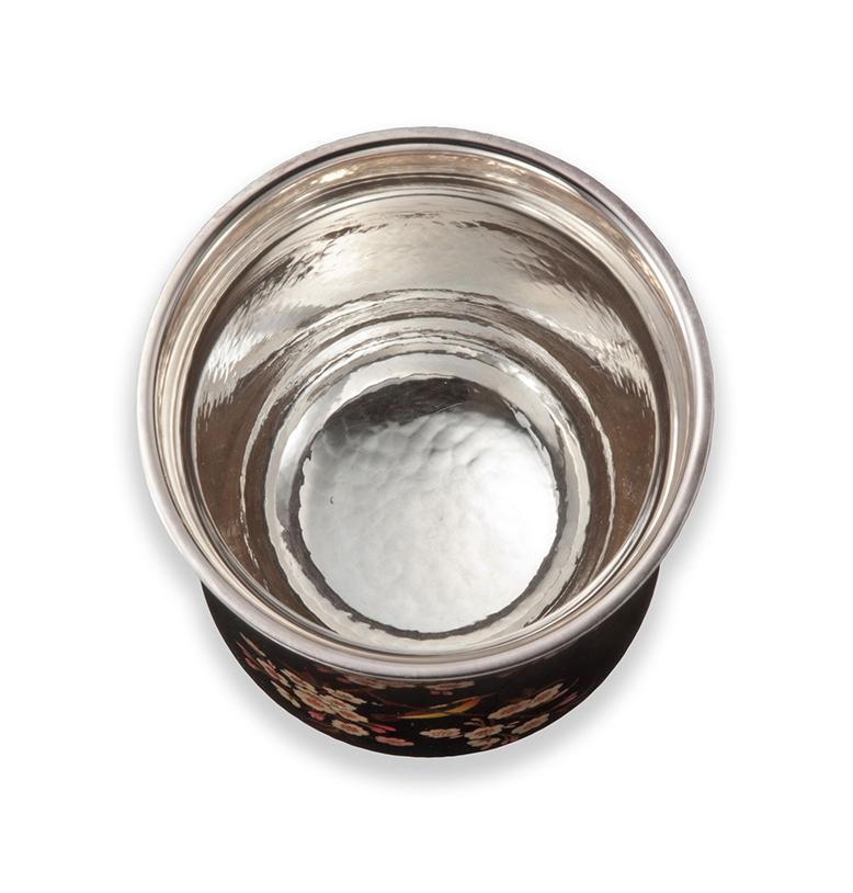 漆銀カップ